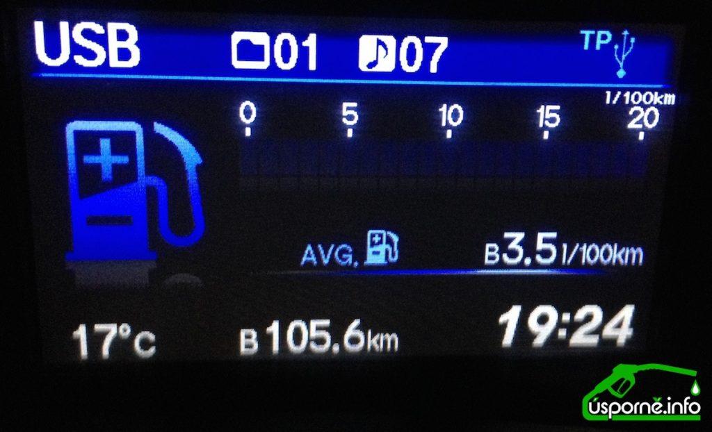Většina aut ukazuje nulovou spotřebu při brždení motorem