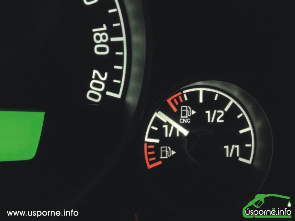 Palivoměr CNG a benzínu