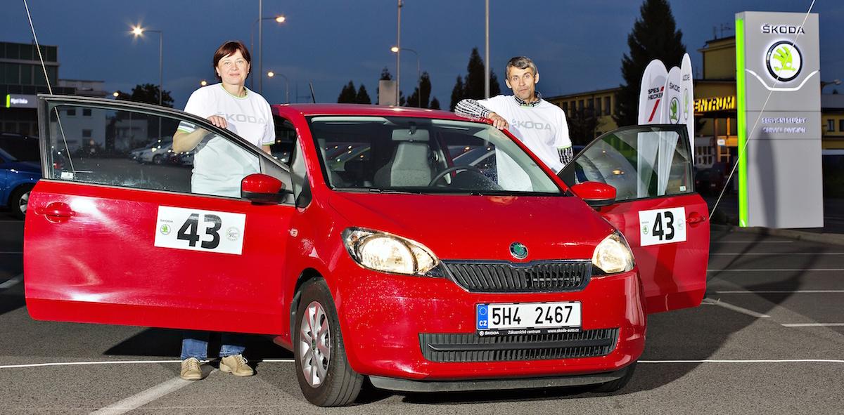 Manželé Horníčkovi z Rychnova nad Kněžnou se stáli s vozem Škoda Citigo I hatchback r.v.2011, motorem 1.0 MPI 44kW (999ccm) absolutními vítězi ŠKODA Economy Runu, jehož 34. ročník na trati Kosmonosy - Vrchlabí - Kosmonosy proběhl 19. září 2015.