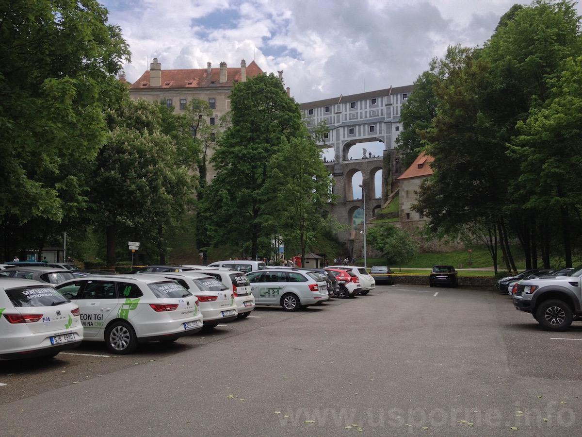 Uzavřené parkoviště Český Krumlov