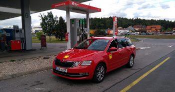 Škoda Octavia G-Tec tankuje CNG, Vystrkov