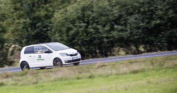 Citigo G-TEC posádky Tomíšek-Kazda na trase Škoda Economy Run 2017