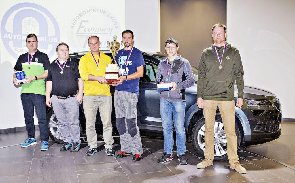 Vítězná trojice ve skupině CNG na Škoda Economy Run 2017