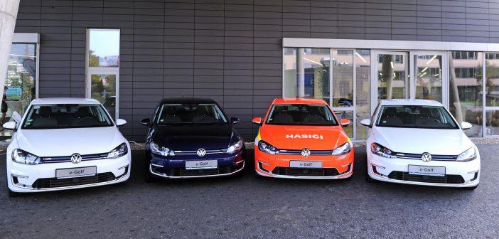 Vozy Volkswagen e-Golf určené k zapůjčení