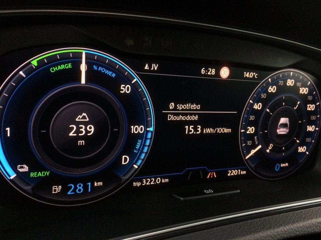 Volkswagen e-Golf (100 kW) - skutečná spotřeba