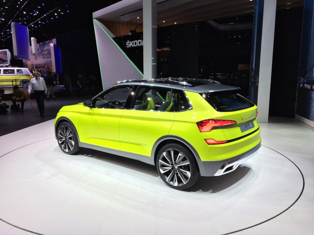 Škoda Vision X - CNG hybrid s pohonem 4x4 - zezadu
