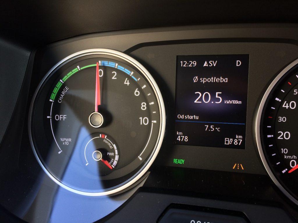 Volkswagen e-Crafter - spotřeba