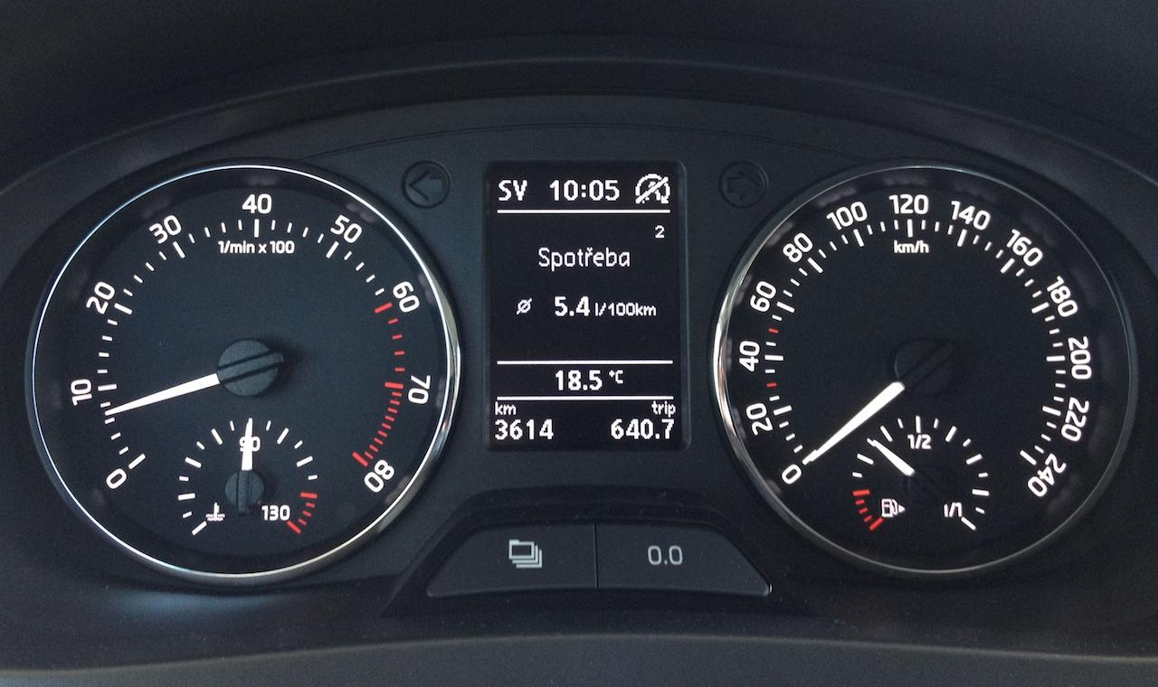 Škoda Rapid 1,2 TSI GreenTec - výsledná spotřeba
