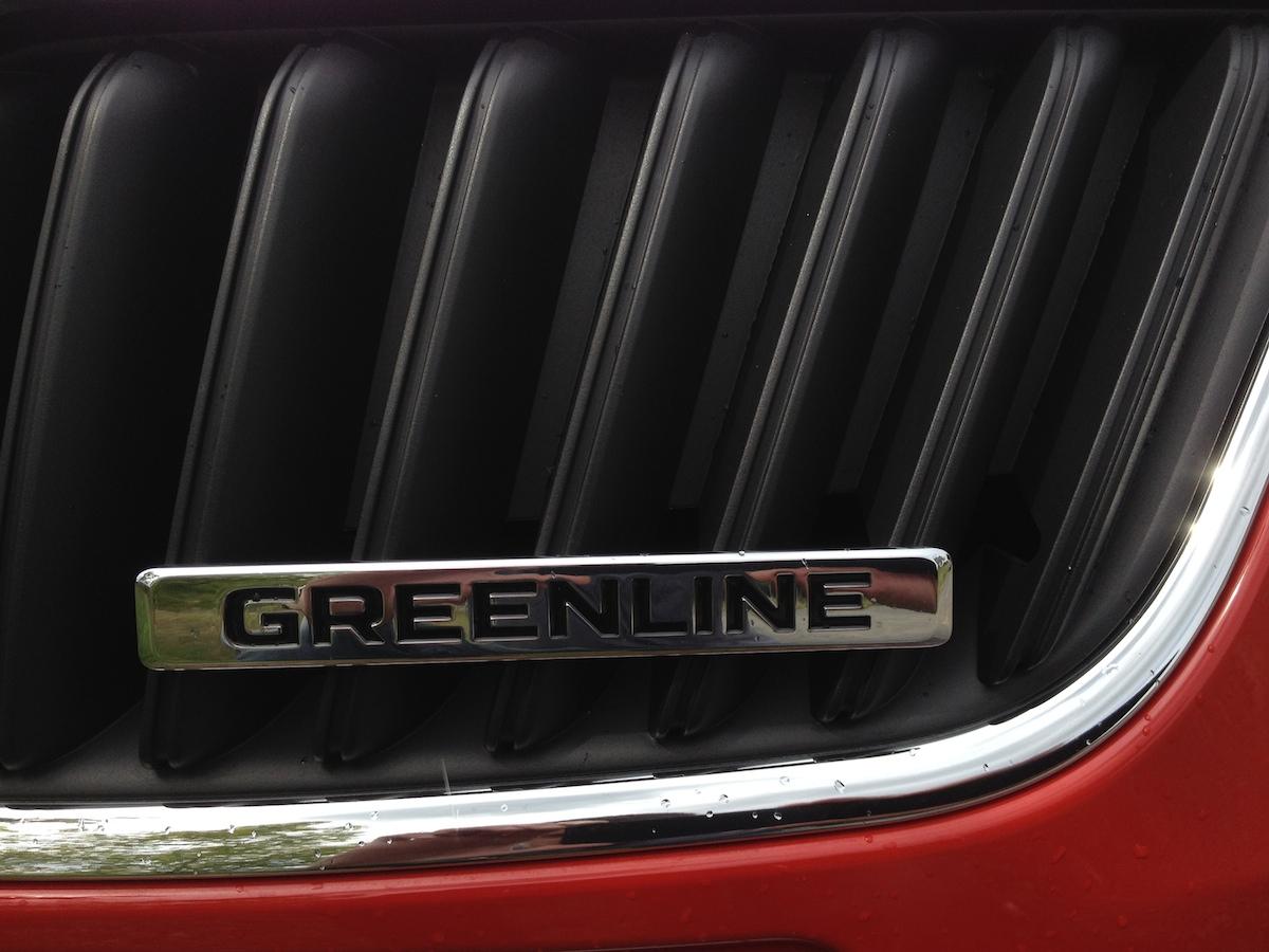 Plaketka GreenLine na masce Fabie