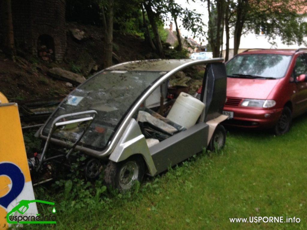 Nedokončený prototyp elektromobilu pana Vegra