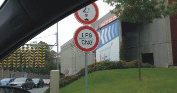 Zákaz vjezdu LPG/CNG - ilustrační obrázek