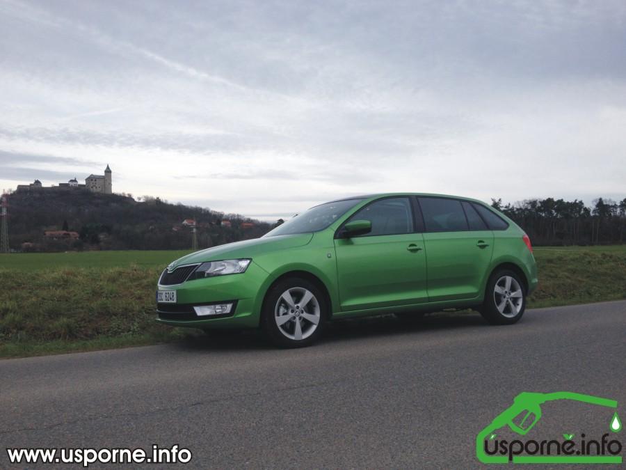 Škoda Rapid TSI pod Kunětickou horou