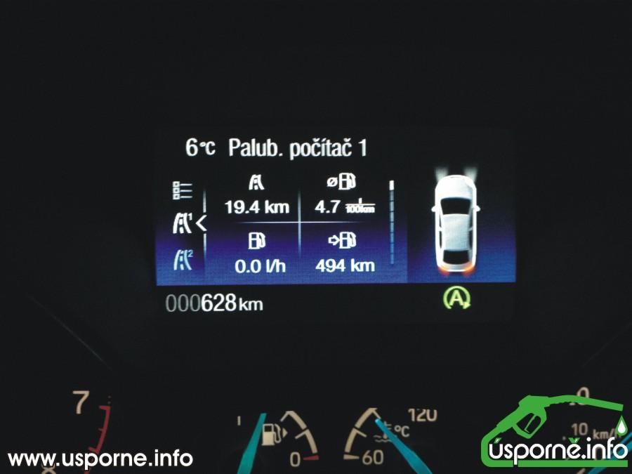 Spotřeba Ford Focus 1,0 EcoBoost