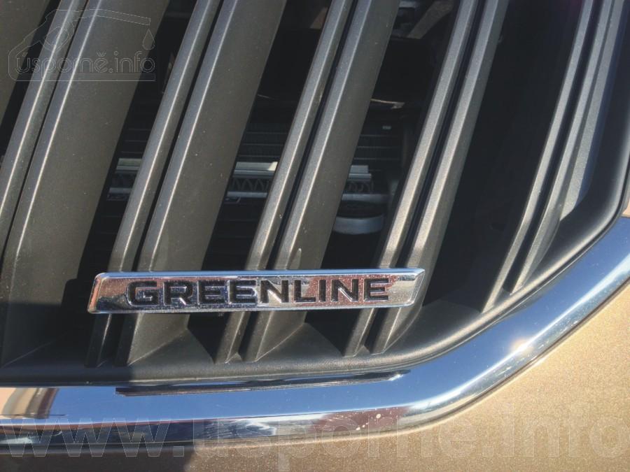 Škoda Yeti GreenLine - plaketka na masce