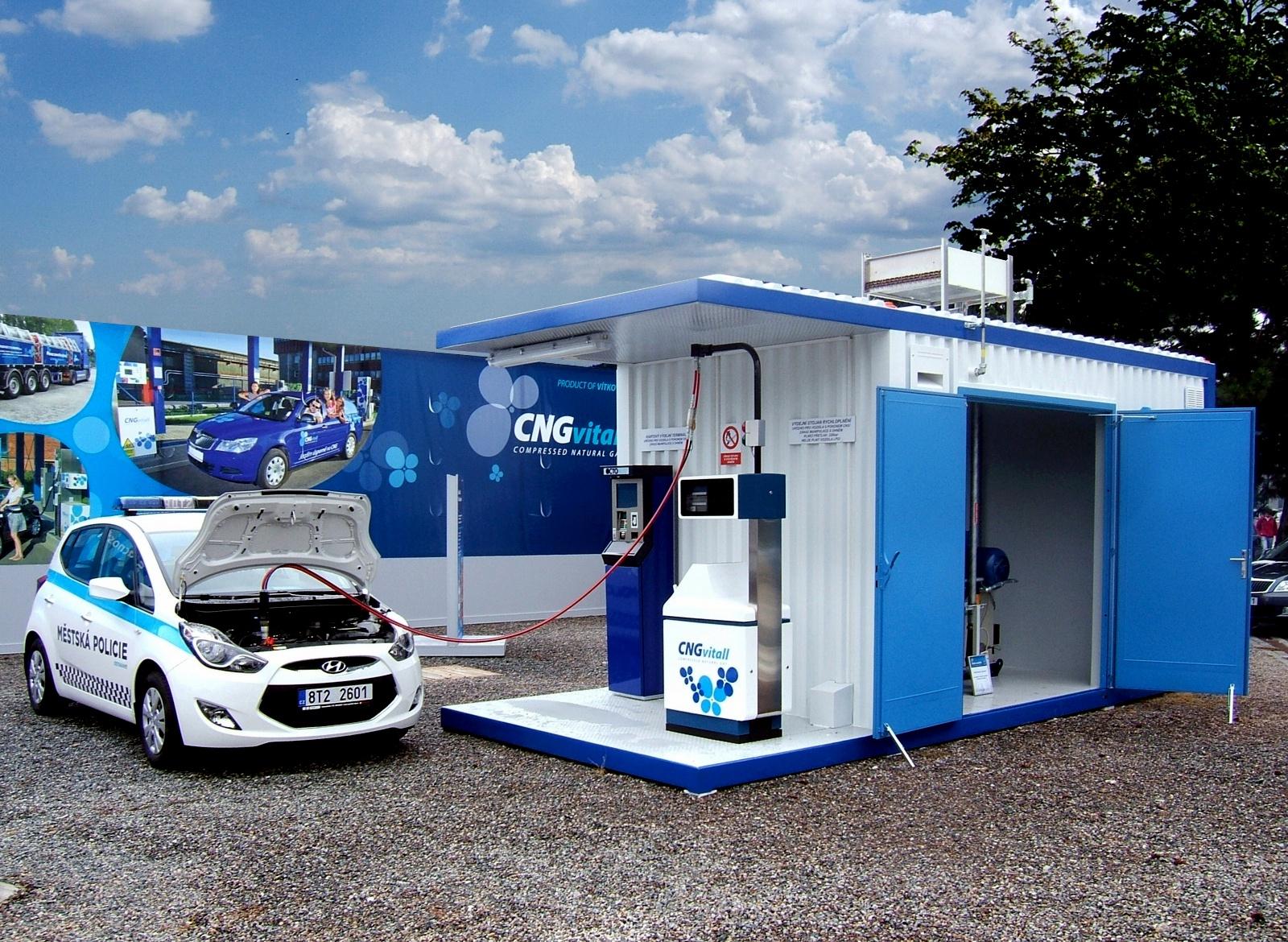 Mobilní CNG plnicí stanice Booster
