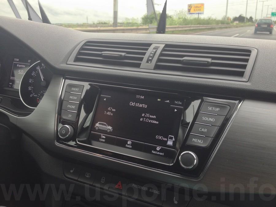 Škoda Fabia 1,4 TDI 66 kW DSG - nejdelší průjezd Prahou