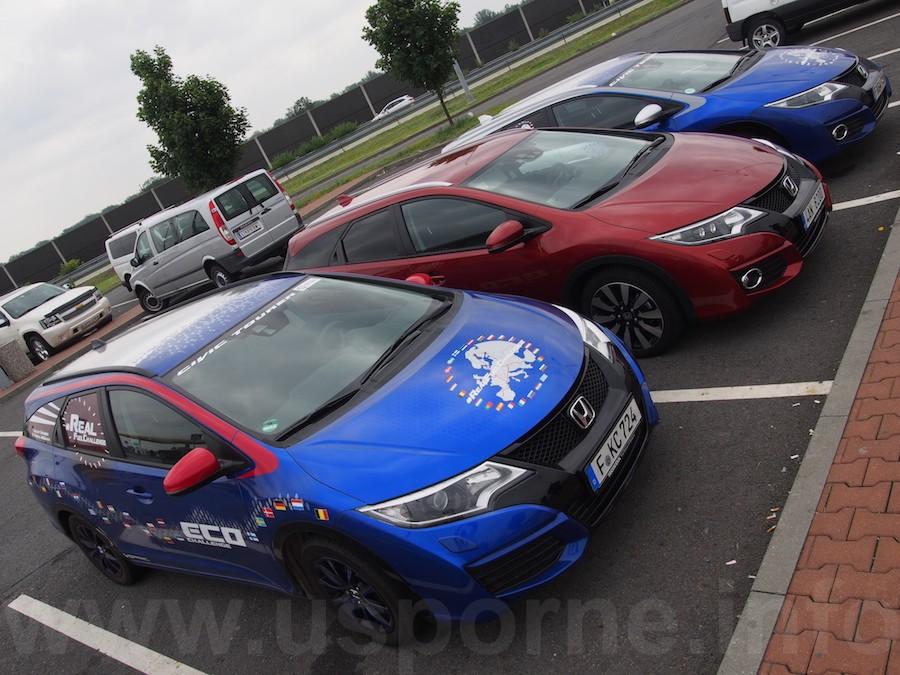 Všechny tři vozy Honda Civic Tourer 1,6 i-DTEC