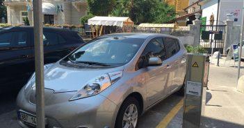 Nissan Leaf na cestě do Chorvatska - nabíjení Lovran