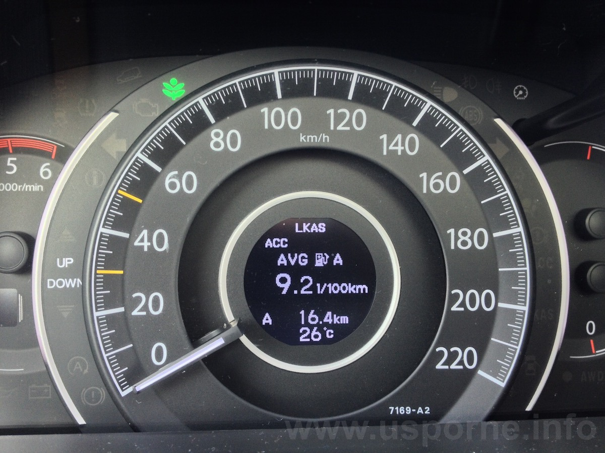 Honda CR-V 1,6 i-DTEC automat - město na trase Žižkov-Zličín