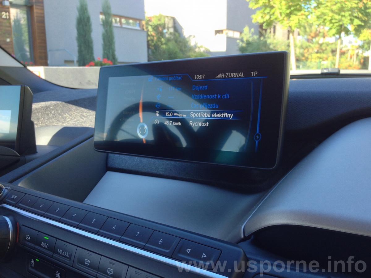 Spotřeba za celý test BMW i3 podle palubního počítače, ta skutečná je vyšší