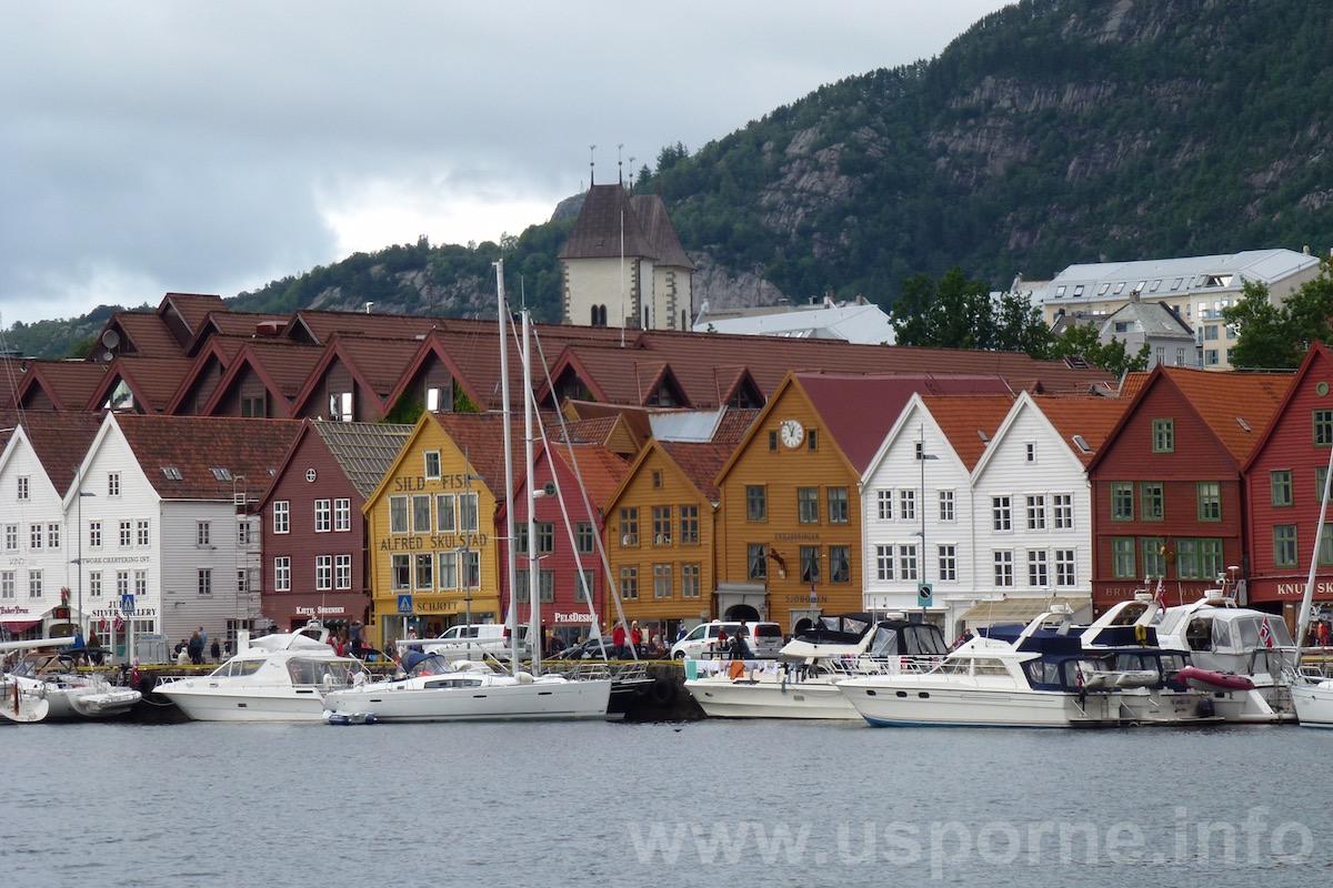 Bergen, barevné dřevěné domy, památka UNESCO