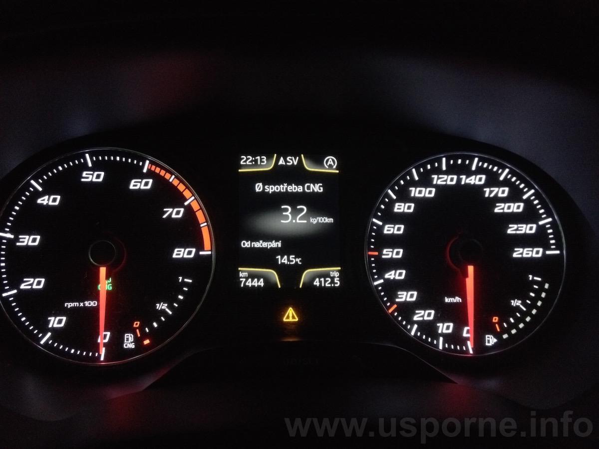 Seat Leon 1,4 TGI - někdy jsme výrazně pod normovanou spotřebou