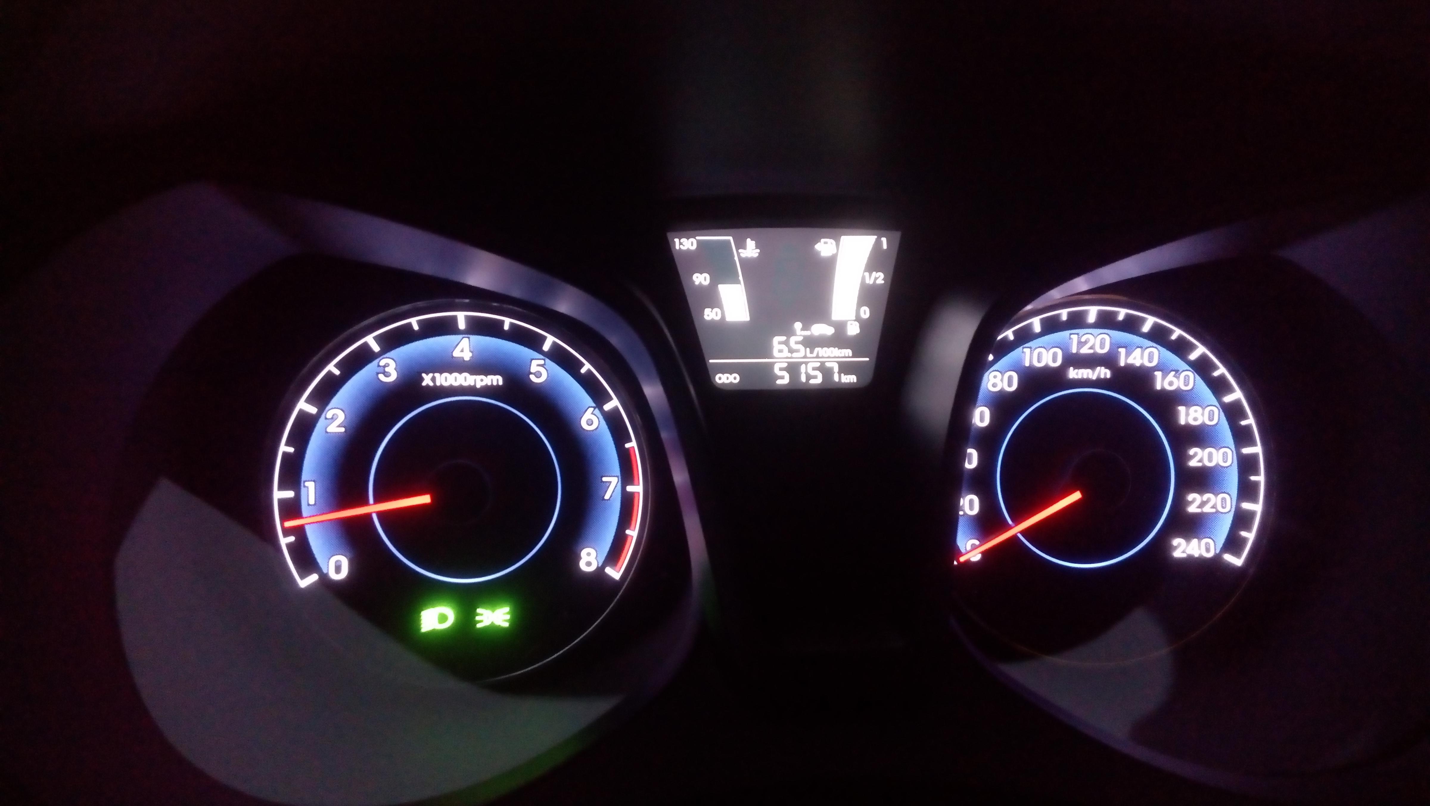 Hyundai ix20 - budíky