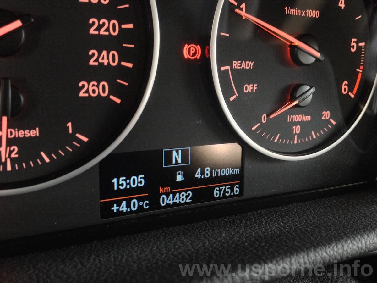 BMW 216d Active Tourer - skutečná spotřeba