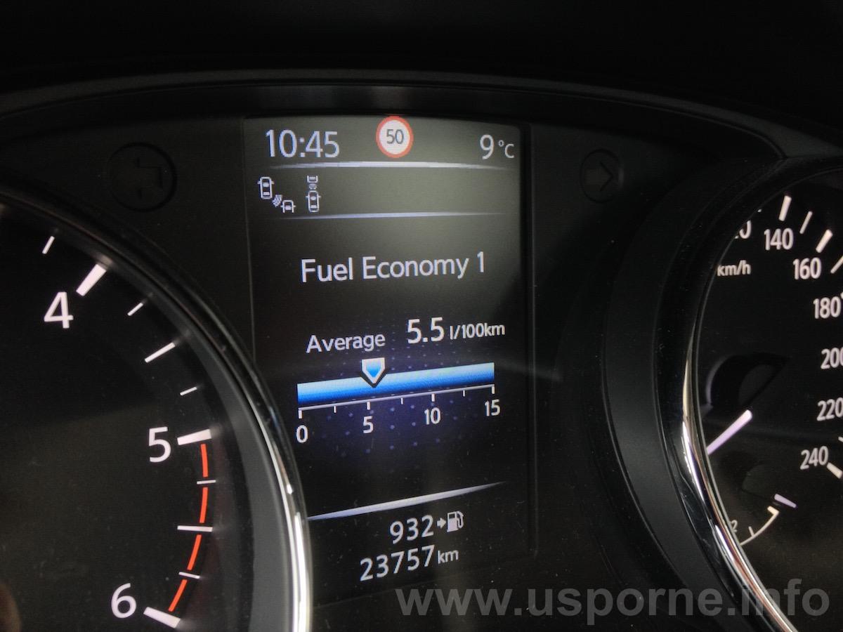 Nissan Qashqai 1,6 dCi 130 k 4x4 - skutečná spotřeba