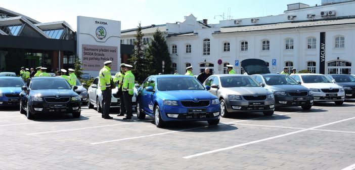 Flotila policejních octavií v civilním provedení