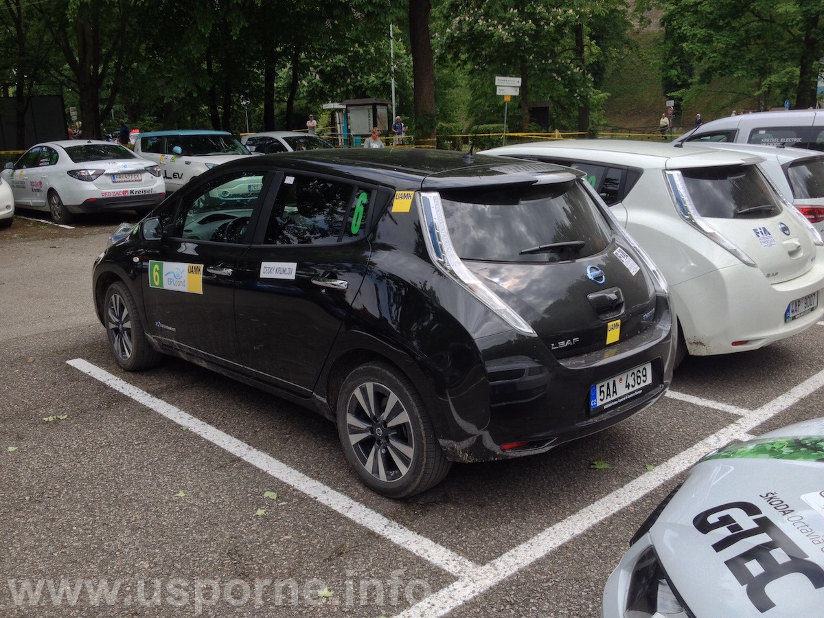 Nissan Leaf v cíl - Český Krumlov