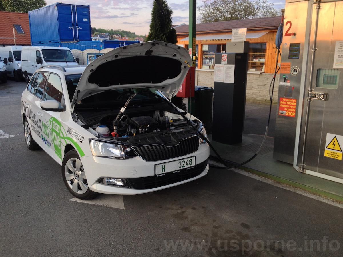 Škoda Fabia Combi CNG 1,0 MPI 50 kW - tankování