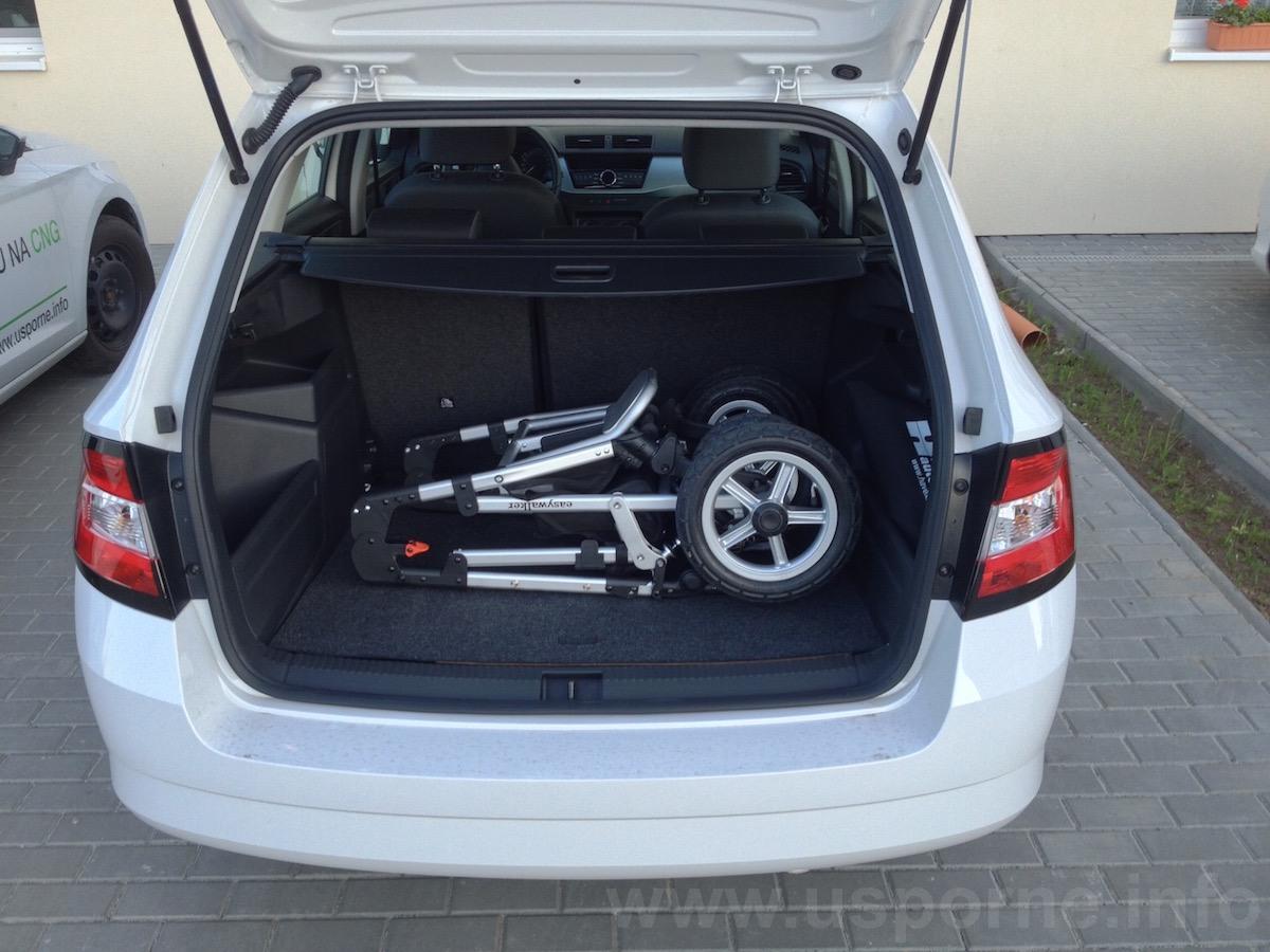 Škoda Fabia Combi CNG - zavazadlový prostor
