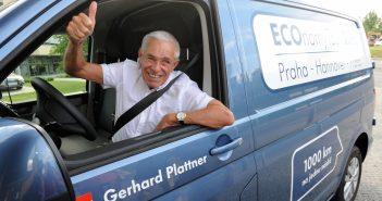 Volkswagen Transporter a jeho řidič Gerhard Plattner