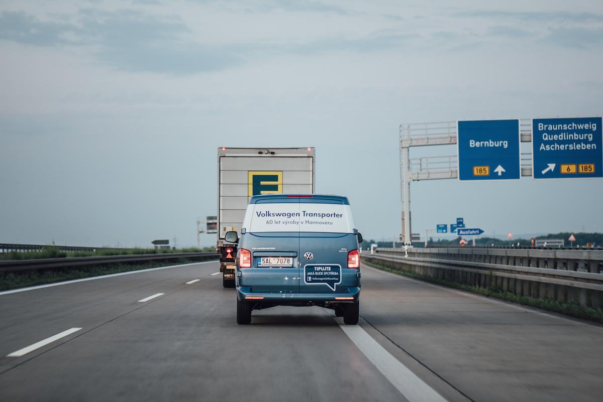 Volkswagen Transporter 2,0 TDI cestou do Hannoveru
