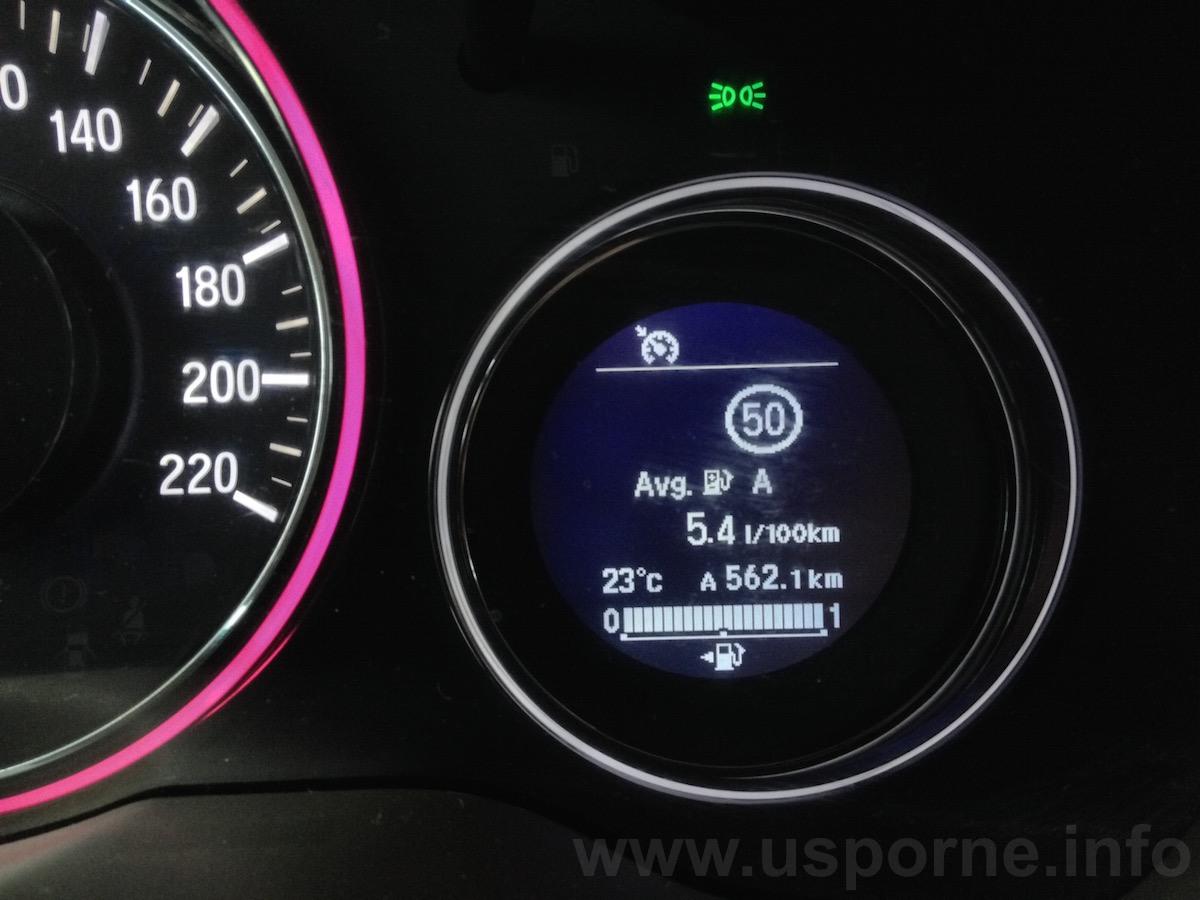 Honda HR-V - skutečná spotřeba 5,4 l/100 km