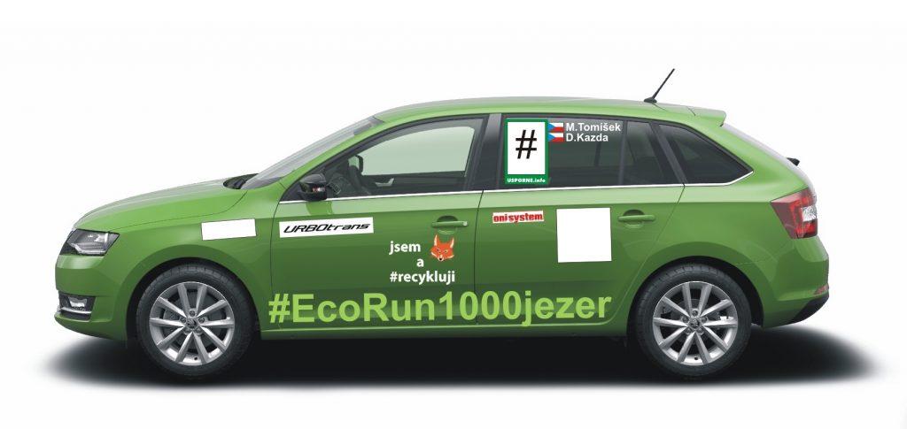 Návrh grafiky auta pro EcoRun 1000 jezer