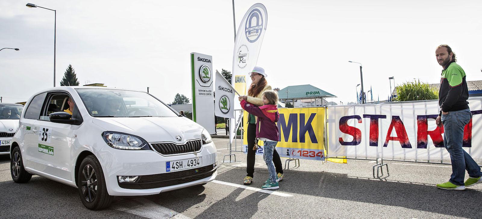 Citigo G-TEC posádky Tomíšek-Kazda na startu Škoda Economy Run 2017