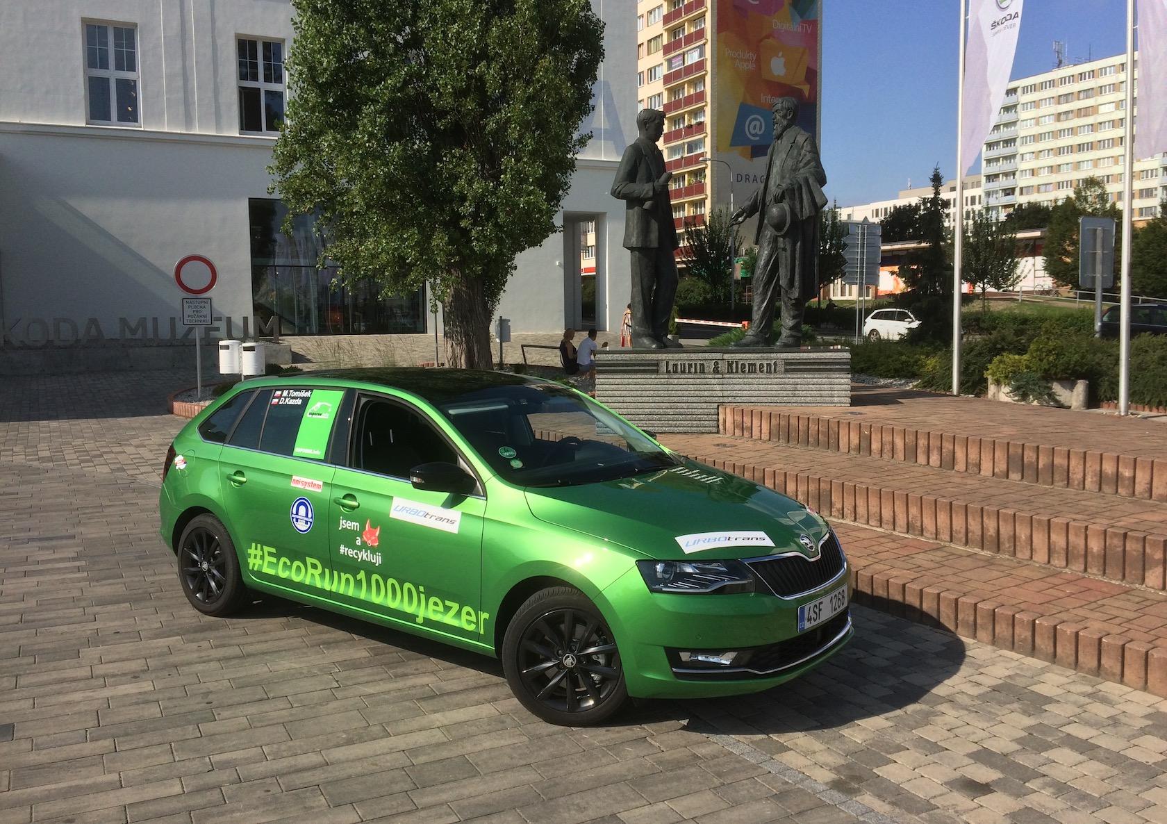 Škoda Rapid na EcoRun 1000 jezer - Muzeum Škoda Mladá Boleslav