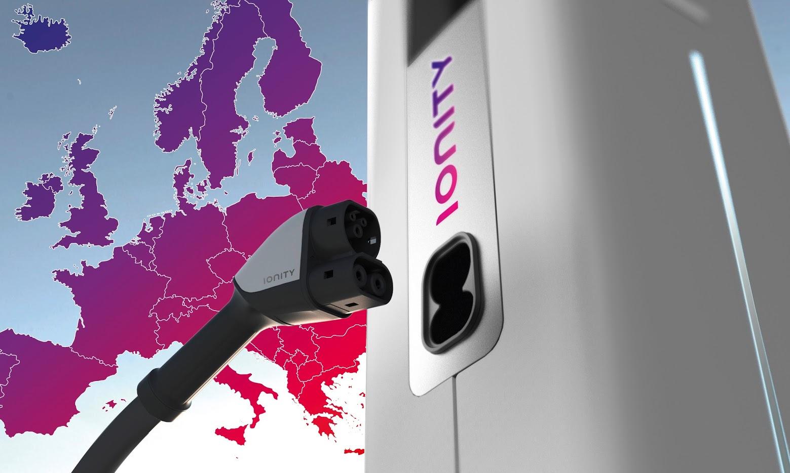 IONITY - panevropská síť rychlodobíjecích stanic