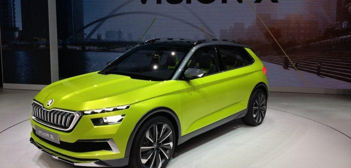 Škoda Vision X - CNG hybrid s pohonem 4x4 - zepředu
