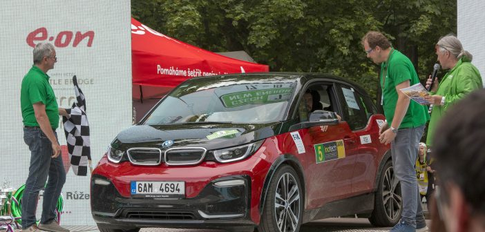 7. Czech New Energies Rallye - BMW #EcoRallyTeamCZ na cílové rampě