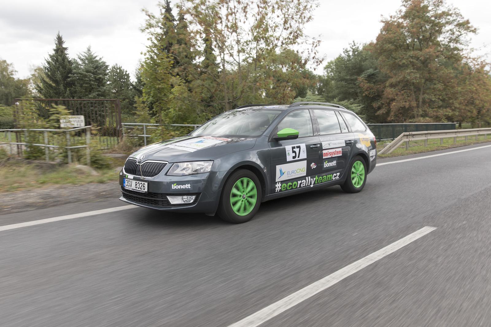 Škoda Octavia G-TEC Combi, #EcoRallyTeamCZ, Škoda Auto, Economy Run 2018, spotřeba