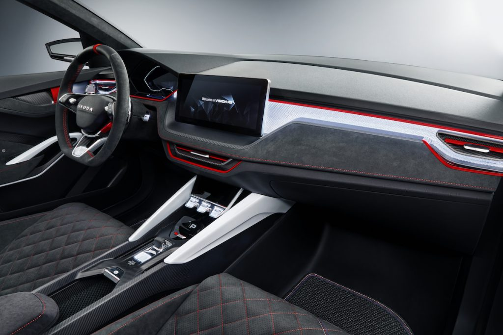Škoda Vision RS - interiér