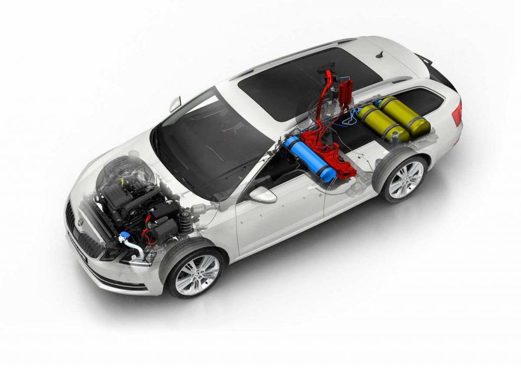 Škoda Octavia G-TEC - schéma - palivový systém