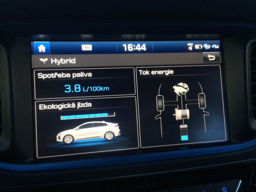 Hyundai Ioniq Hybrid - spotřeba