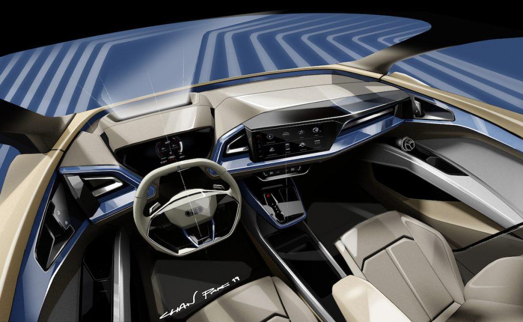 Audi Q4 e-tron - Ženeva 2019 - interiér