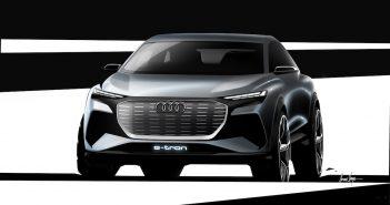 Audi Q4 e-tron concept - Ženeva 2019 - zepředu