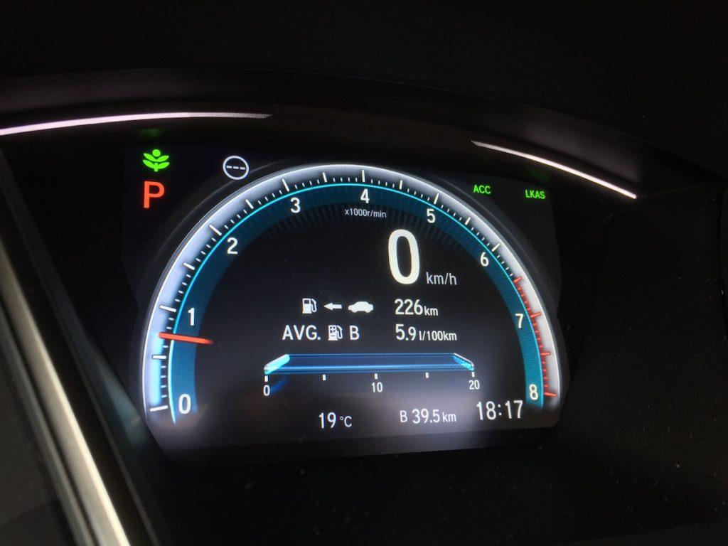 Honda Civic 1,5 VTEC TURBO - spotřeba - testovací okruh