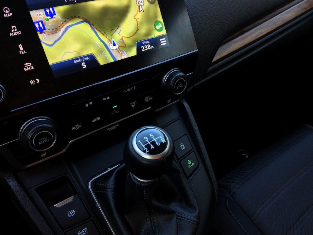 Honda CR-V nadmořská výška v Berouně